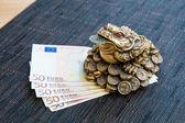 Money frog and euro — Foto de Stock