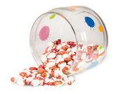 Feijões num frasco de vidro — Fotografia Stock