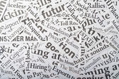 Newspaper clippings — Stock Photo
