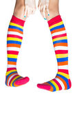 Colorful stockings isolated — Stock Photo
