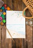 夢や夏の休暇の概念の計画 — ストック写真