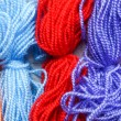Stock Photo: Colorful threads and loom
