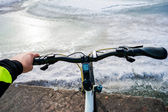 Bike and sea — Stok fotoğraf