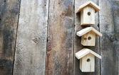Many small birdhouses — Stock Photo