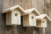 Wooden bird houses — Stock Photo