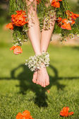 Carefree young woman — Stock Photo