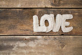 Love word from fabric — Foto Stock