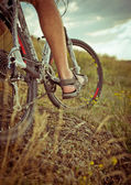 Cyclist riding — Foto Stock