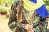 Patriota ucraniano — Foto de Stock