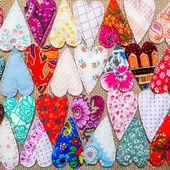 Handmade hearts background — Стоковое фото