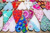 Handmade hearts background — Stock Photo