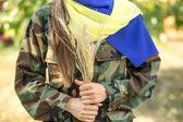 Ukrainian patriot — Stock Photo