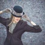 Beautiful woman in hat — Stock Photo #51539717