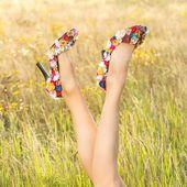 Sexy woman legs — Stock Photo