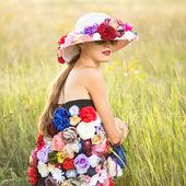 Romantic female model — Stock Photo