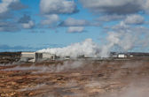 Geothermal power plant — Stock Photo