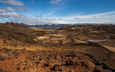 View over a geothermal area in Iceland — Stock Photo