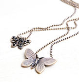 Butterfly necklaces - Stock Image — Stock Photo