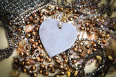 Heart Necklace - Stock Image — Photo