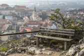 Bench and view, Mikulov - Czech Republic — Stock Photo