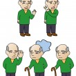 Grandfather of various expressions. — Stock Vector