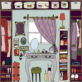 Illustration of the room. — Vettoriale Stock
