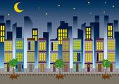 городской пейзаж — Cтоковый вектор