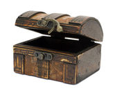 Antique wooden chest — Stockfoto