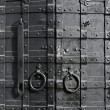 Stock Photo: Sturdy metal door