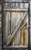 Wooden door of a seaside hut — Foto Stock