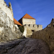 Stock Photo: Old castle walls and battlements
