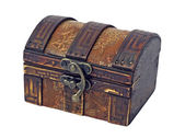 Antique wooden chest — Zdjęcie stockowe