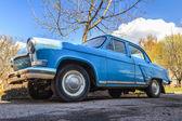 Spring fever of retro car — Stock Photo