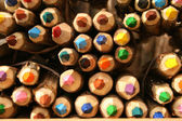 Colorful pencil tips close up texture — Stockfoto