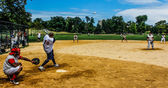 Baseball spel — Stockfoto