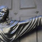 Statue of Jesus Christ extending his arm — Stock Photo