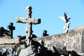 Old cemetery cross — Stock Photo