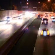 Night Highway Traffic — Stock Video