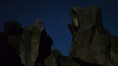 Volcanic Formation and Stars — Stock Video