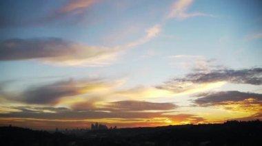 Los Angeles Skyline Sunset. — Stock Video