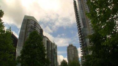 バンクーバー都市の景観 — ストックビデオ