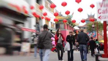 Kinesiska nyåret på chinatown i los angeles — Stockvideo