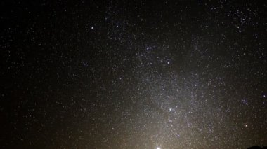 Astrophotography Time Lapse Night to Day in Desert — Vídeo de Stock