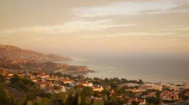 Sunset Shoreline Cliffs — Stock Video