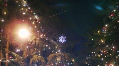 Vánoční osvětlení — Stock video