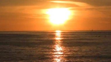 Golden Beach at Sunset — Stock Video