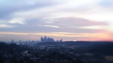 Los Angeles Skyline Sunset — Stock Video