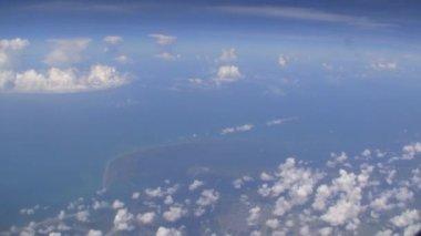 Areal View of Caribbean Ocean — Stock Video