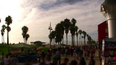Venice Beach Tourists — Stock Video