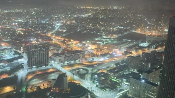 Ciudad de la parte superior del edificio — Vídeo de stock